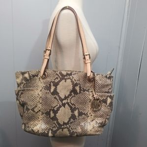 Michael Kors Snake Print Embossed Tote Bag